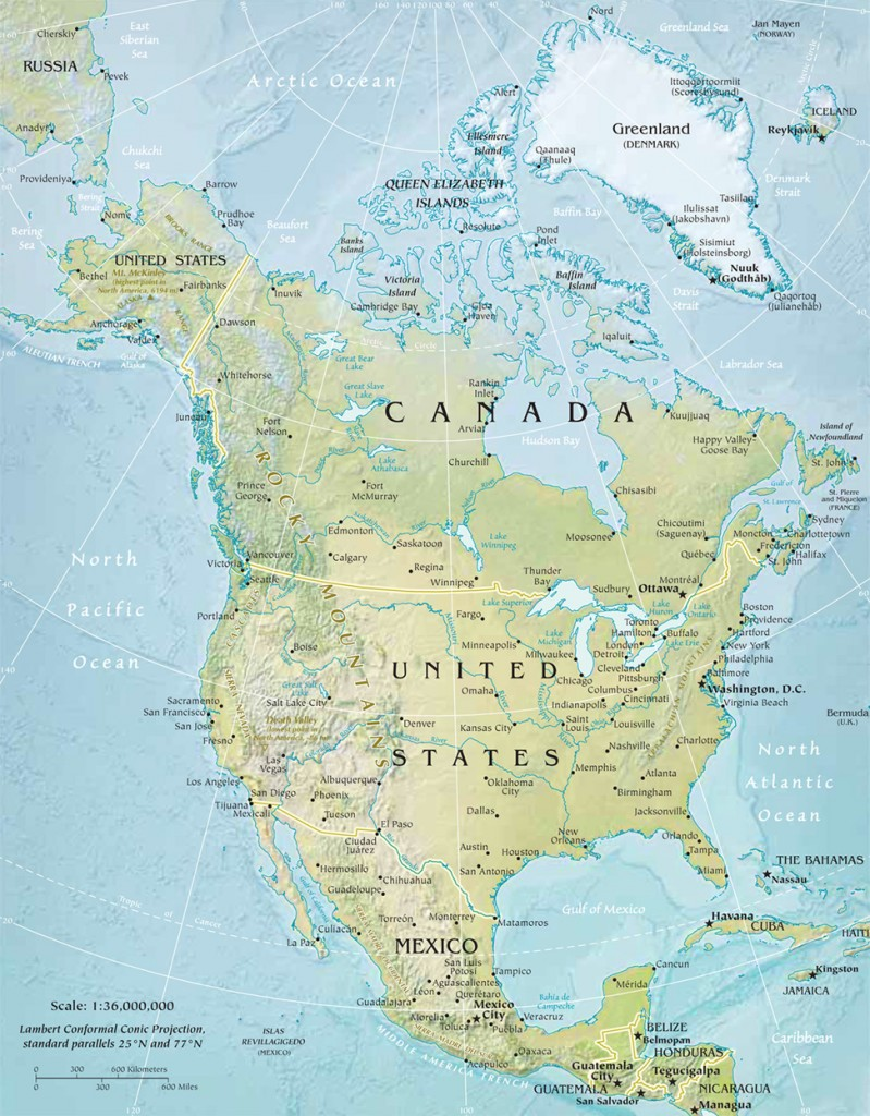 Travel To North America For An Amazing Holiday United States Of America And Canada Map