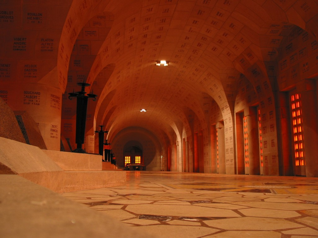 Inside view the Douaumont Ossuary