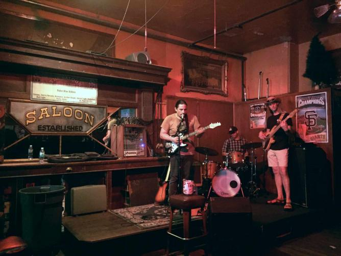 Live music at the Saloon in San Francisco